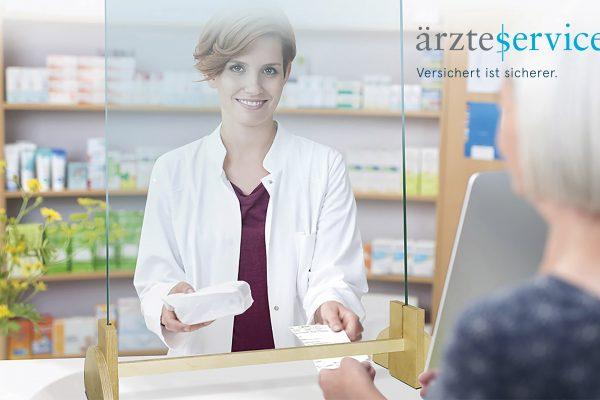 Virenschutzglas Aerzteservice